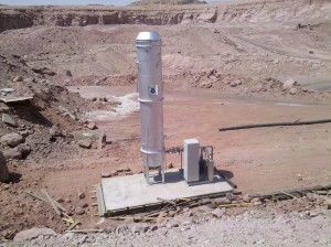 Timna mines torch