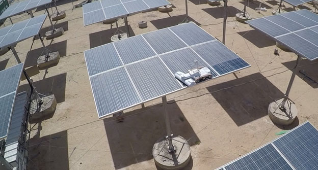 Solar panels at the Eilat-Eilot development validation center