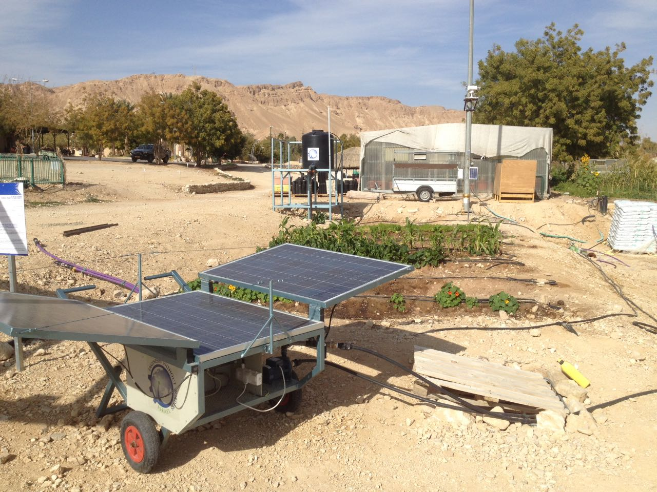 Solar Water Pump in Eilat Eilot off grid village
