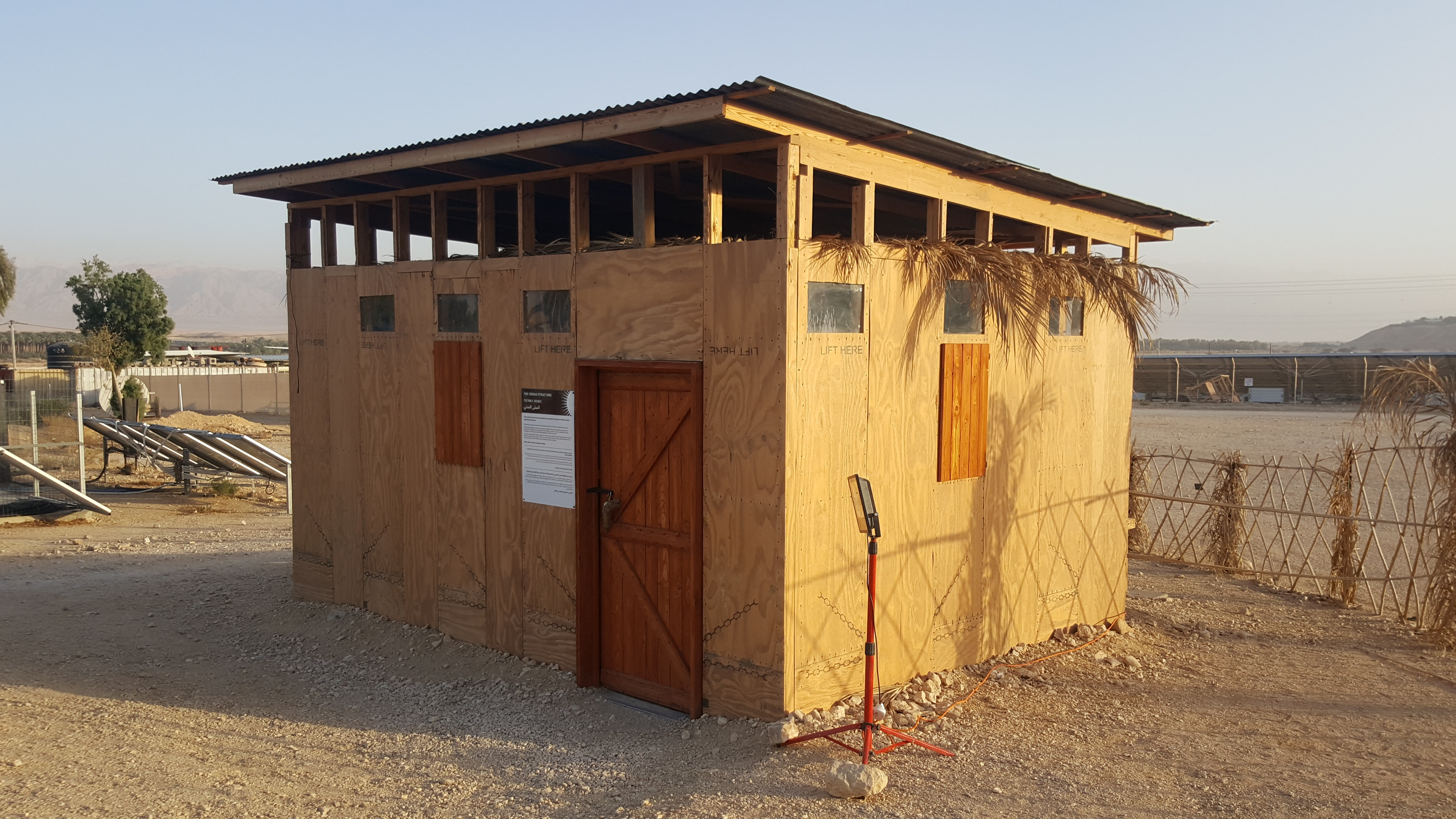 Eilat-Eilot off-grid wood public structure cabin