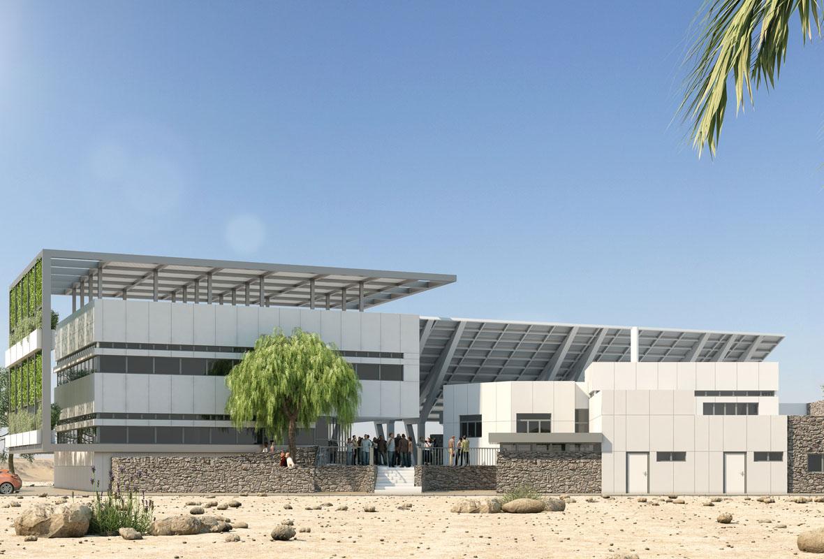 simultation of Eilat-Eilot future expantion of office building