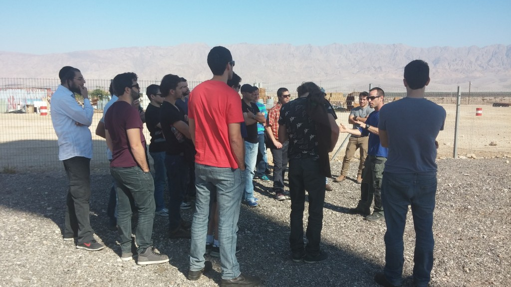 Afeka students at off-grid academic course tour