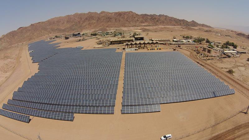 שדה סולארי באזור תעשייה תמנע